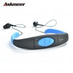Askmeer IPX8 Водонепроницаемый 8 ГБ Подводный Спорт Музыкальный Проигрыватель MP3 Шейным Стерео Наушники Audio-Гарнитура с FM для Дайвинга Плавание