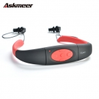Askmeer 3 М Водонепроницаемый Спорт Стерео 4 ГБ Mp3-плеер Гарнитура с Fm-радио Аккумуляторная Mp3 Музыка Наушники Для плавание Серфинг