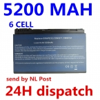 5200 МАЧ батареи ноутбука forACER Extensa 5210 5220 5230 5235 5420 5610 5620 5620Z 5630 7220 7620 TM00741 TM00751 BT.00803.022