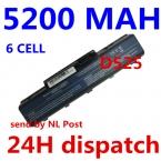 5200 МАЧ 6 ячеек Батареи Ноутбука Для Acer EMACHINES E525 E627 E725 D525 D725 G620 G627 G725 E627-5019 AS09A31 AS09A41 AS09A51