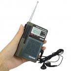 Tecsun R-818 Радио FM Карманный FM/MW/SW Приемник Full Band Цифровой Будильник   Внешняя Антенна Портативный радио FM Y4138G