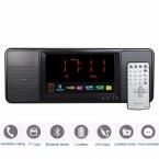5 Вт Цифровой Fm-радио Bluetooth-динамик Будильник FM Портативная Стерео Радио Mp3-плеер с Пультом Дистанционного Управления Приемник Y4369A