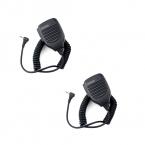 2 шт. 1 Pin 2.5 мм Портативный Динамик Walkie Talkie Микрофон Анти-борьба для Motorola T6200 T6220 T6500 Cobra ФРС 6300 5512 C2024A