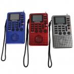3 Цветов FM Стерео Радио Приемник   MP3 Player REC Рекордер AUX Аудио Спикер Портативный Fm-радио Y4114Z