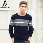Новая Осень зима Бренд одежды Мужчин Свитера Пуловеры Вязание Толстые Теплые Дизайнер Случайный Человек Трикотаж 611201