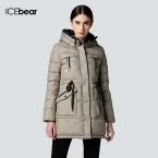ICEbear долгой зимы Марка Мода Одежда  Куртки и девочек плюс размер женщин Модные Куртка Вниз Одежда Аксессуары Пальто