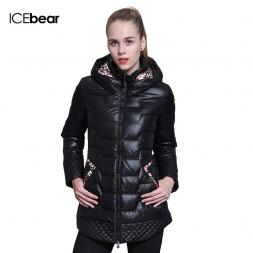 ICEbear  зима модный бренд одежды скидки в воспитать в себе мораль долго утка вниз пальто куртки женщины 66112-1
