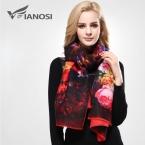 [VIANOSI]   Дизайн Бандана Печати Зимний шарф женский платок Сгущает Теплый шарфы женские Шерсть Марка Шарф VD070