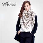 [ VIAONS ]  известная марка шарф женский зима мода шарф женщин теплые платок плед шерстяной шарф  VS005