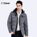ICEbear  Зимние Куртки И Пальто  Мужской зимний пуховик лёгкий короткий городской стиль Куртка мужская молодежная Сьемный  капюшон  пуховика 16MD895