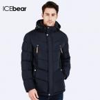 ICEbear  Куртка зимняя мужская Пуховик в спортивном стиле отлично подходит для спорта Карман на рукаве для телефона 16MD930