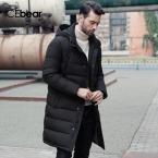 ICEbear  Новая Одежда Куртки Бизнес Длинные Толстые Зимняя Куртка Мужчины Твердые Куртка Мода Шинель Верхняя Одежда 16M298D