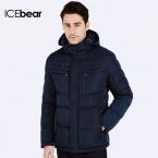 ICEbear  Зимние куртки для мужчин Парка молодежная стильная Наполнитель куртки Био-Пух Теплый пальто и стильный жакет Пуховик капюшоном 16MD866