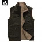 мужской Жилет С Большой Жилет Мужской Моды Куртки 5XL 6XL 7XL 8XL 9XL Наизнанку Карманы Обратимым Армии униформа