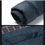 Мужчины С Капюшоном Зимние Пальто Мужской С Капюшоном Плюс Размер XXXL 4XL Куртки Подросток Slim Fit Куртка Пуховая Куртка