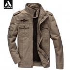 Solider Армия Стиль Куртки Мужчины Осень Army Green Верхняя Одежда Плюс Размер XXXL 4XL 5XL 6XL Пальто