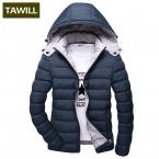 Мода Зимняя Куртка Мужчины Парки Лоскутная цвет Держать теплое Пальто Плюс размер   Бренд 1328