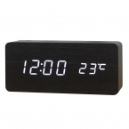 деревянный из светодиодов будильник, Despertador температуры звучит управления из светодиодов дисплей, Электронные рабочего цифровой настольные часы, Sku04a4a01