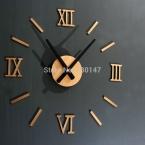 Рим цифровой номер настенные часы DIY 3d зеркало молчание часы акриловые краткое успокоить DIY настенные часы современный дизайн оптовая продажа
