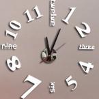 часы настенные современный дизайн роскошные Акриловые зеркало часы искусства 3d продвижение home decor diy большой часы Гостиной бесплатно