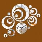 новый бесплатная  настоящее специальное предложение зеркало Гостиная Акриловые diy Зеркало наклейки часы 3D Стены Стикеры Украшения Дома