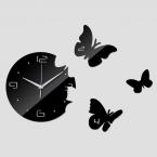 Лучшие продажи diy наклейки часы гостиной акриловое зеркало наклейки часы 3d бабочки стены искусства украшения дома бесплатная