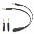 3.5 мм 1 Женский до 2 мужской Наушники Аудио Кабель Микрофон Splitter Адаптер, Подключенный Шнур для Ноутбуков и ПК