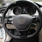 Для Volkswagen VW Golf 7 GTI MK7/POLO  /Jetta MK6  машина руль крышка ABS хромированной отделкой стикер