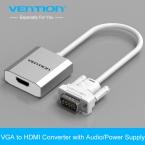 Конвенция 0.15 м VGA для HDMI Конвертер Адаптер с Аудио 1080 P VGA HDMI Адаптер для ПК Ноутбук HDTV Проектор