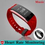 Мода Музыка Управления Для Подключения Bluetooth Smart Watch Часы Smartwatch Мониторинга Сердечного ритма Фитнес-Часы для Android iOS