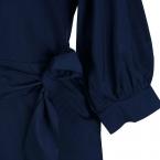 Женщины Рокабилли Dress Половина Рукава  Осень Пояса ВЕЛИКОБРИТАНИЯ Европейский Стиль Круглым Воротом Повседневная Длинный Тонкий Одежда Veatidos М-5XL