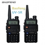 2-PCS BAOFENG УФ-5R WALKIE TALKIE Черный Хэм Любительское Двухстороннее Радио Dual Band Vhf/Uhf 136-174/400-520 МГц С Бесплатной Доставкой