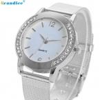 Модные женские туфли Crystal Silver из нержавеющей стали аналоговые кварцевые наручные часы браслет relogio reloj Pulsera de Cuero Aug30
