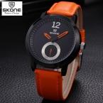 SKONE часы мужчины luxury brand мужчины смотреть relogio наручные часы мужская Мода кожаный ремешок кварцевые часы  Доставка мужские часы