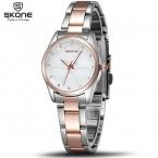 SKONE Марка Женщины Платье Часы Rhinestone Сердца Розовое Золото Мода Часы Дамы Кварцевые часы Девушки Наручные Часы   для ее