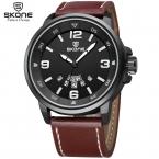 3D Luxury Brand Кожаный Ремешок Аналоговый мужские Кварцевые Дата Часы Моды Случайные Спортивные Часы Мужчины Военная Relogio Masculino
