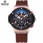 SKONE Хронограф Спортивные Часы Мужчины 24 Часов Дисплей Силиконовые Часы Ударопрочный Водонепроницаемый Марка Кварцевые Военные Часы Relogio