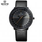 SKONE Будущего Дизайна Кварцевые Часы Мужчин Лучший Бренд Черный Кожаный Часы Relojes Hombre Montre Homme Horloge Orologio Uomo часы