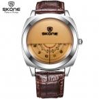 Skone пару часы  наручные часы  популярно на встрече с уникальным пол-циферблатом   женские мужские  горящие прогулочные Кварцевые часы   водозащитные и противоударные