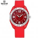SKONE 8 Цветов Световой Ручной Rhinestone Моды Часы Женщины Повседневная Силиконовый Ремешок Смотреть Леди Спорт Наручные Часы Девушки  ПРОДАЖА