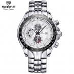 Сконе мужские стальной лентой мода свободного покроя часы авто дата световой импортированный кварцевый механизм люксовый бренд бизнес часы мальчиков