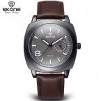 Сконе мужчины часы автокалендарь лучший бренд класса люкс мужчины военный наручные часы из натуральной кожи спортивные часы Relogio Masculino