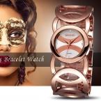 WEIQIN Марка Магия Новая Мода Lady Gold Женские Часы Полный Нержавеющей Стали Кварцевые Наручные Часы Relojes Mujer Relogio Feminino