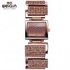 Weiqin горный хрусталь браслет часы женщины кварцевый - часы мода платье женские часы браслет женский Relogios Feminino