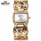 Weiqin Leopard браслет часы женские со стразами золотые часы кварцевые-часы час подарок для нее Reloje mujer  Relogios