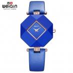 Real Керамический   Blue Star Ювелирные Часы  Стол Женские Часы Jewel Gem Cut Черный Геометрии Поверхности Наручные Часы