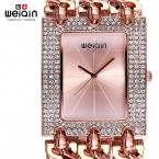 Weiqin роскошный С кристалалми и стразами золотой браслет часы женские Дамская мода браслет платье часы женские часы час Relogio feminino