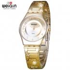 WEIQIN Моды Золотые Часы Женщины Браслет Роскоши Кварцевые Часы Тонкий Цветок винограда Дейл Простой Платье Наручные Часы Лучший  Часы