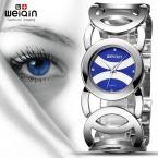 WEIQIN  Популярных Цветов Magic Blue Женщины Часы Роскошные Высокое Качество Montre Femme Платье Из Нержавеющей Стали Женщины Наручные Часы