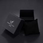 Чисто Черный Квадратной Формы, Бумага Подарочная Коробка Упаковка Для Наручные Часы Коробки